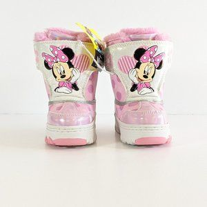 Disney Girls Toddler Minnie Mouse Winter Boots